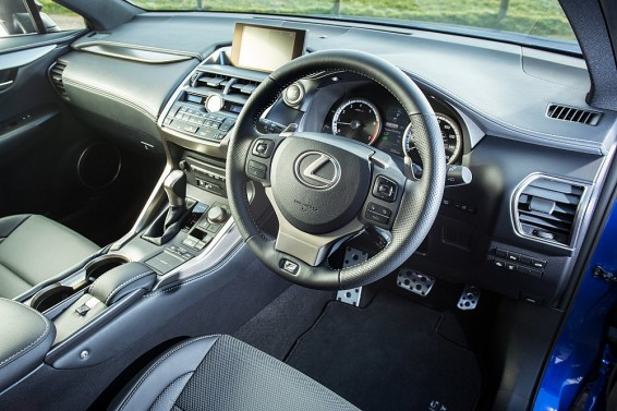 NX 200t interior angle