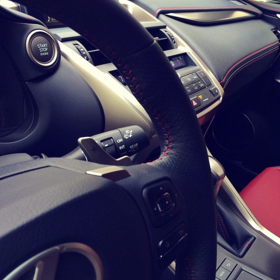 NX steering wheel and stitching