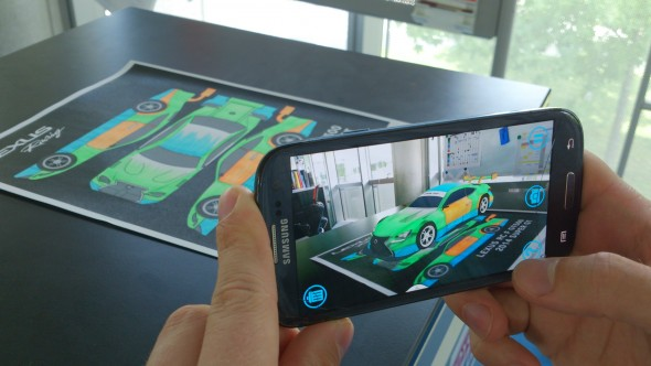 augmented reality app Lexus RC F GT500