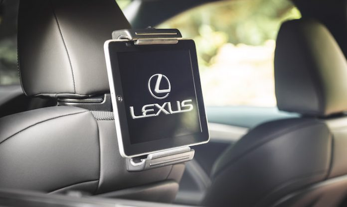 Lexus tablet holder