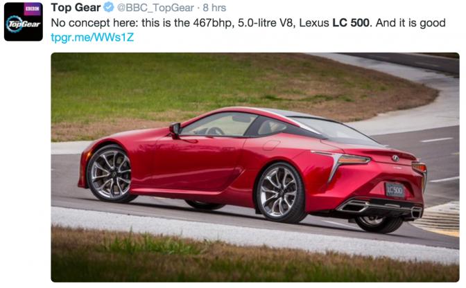 New Lexus LC 500