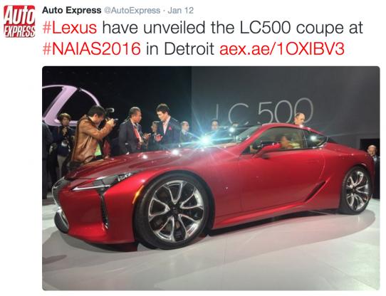 Lexus LC 500 at Detroit motor show