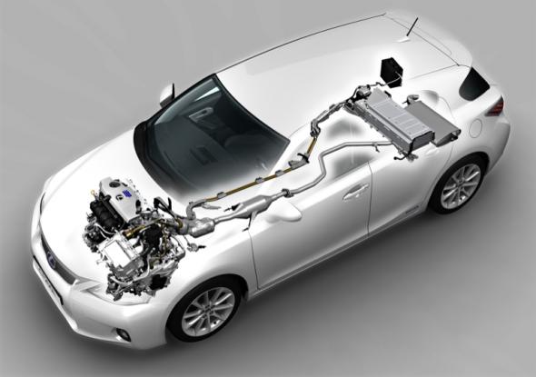 Lexus CT 200h hybrid drivetrain silencer plate