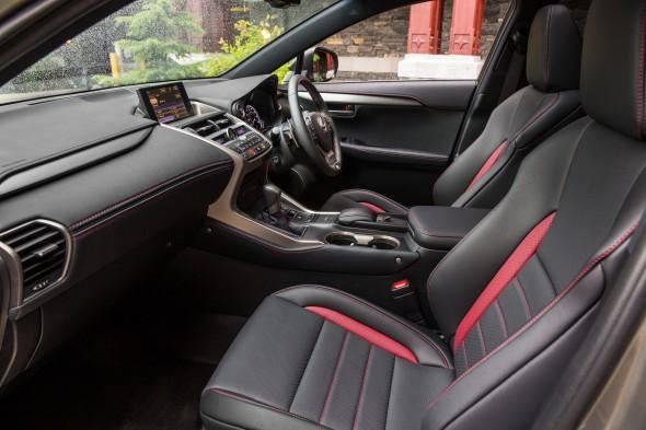 Lexus NX Right-hand drive interior black red