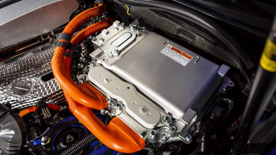 Close-up of Lexus Hybrid Drive