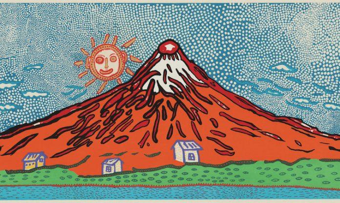 Yayoi Kusama - Mt Fuji - Ukiyo-e