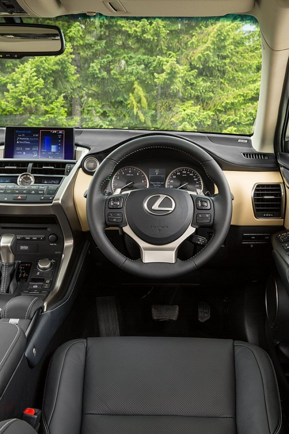 Lexus NX Right-hand drive interior cream trees