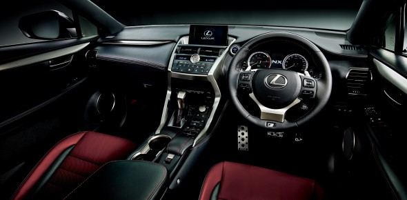 First Lexus NX rolls off of the line 300h interior