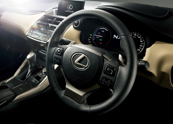 Lexus NX Right-hand drive interior steering wheel
