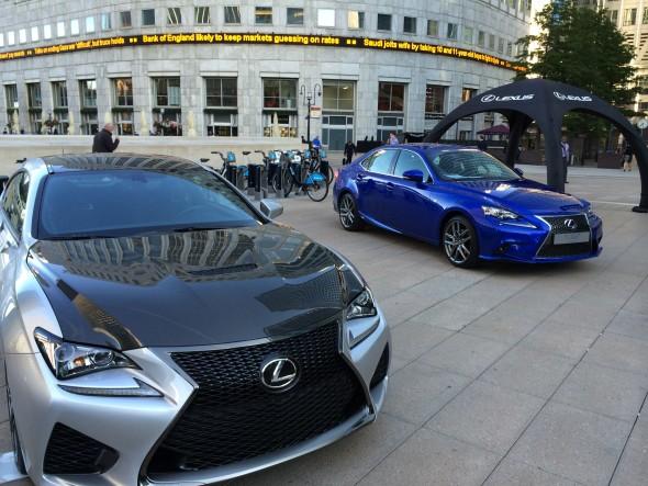 Lexus Festival of F Canary Wharf RC F IS F SPORT