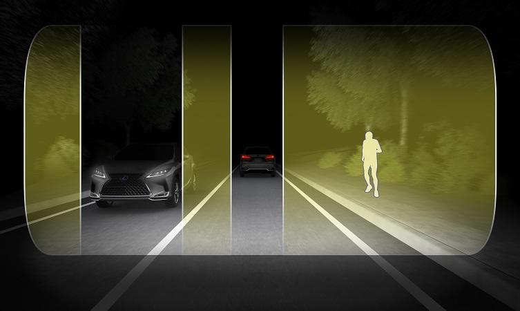 Lexus BladeScan headlights
