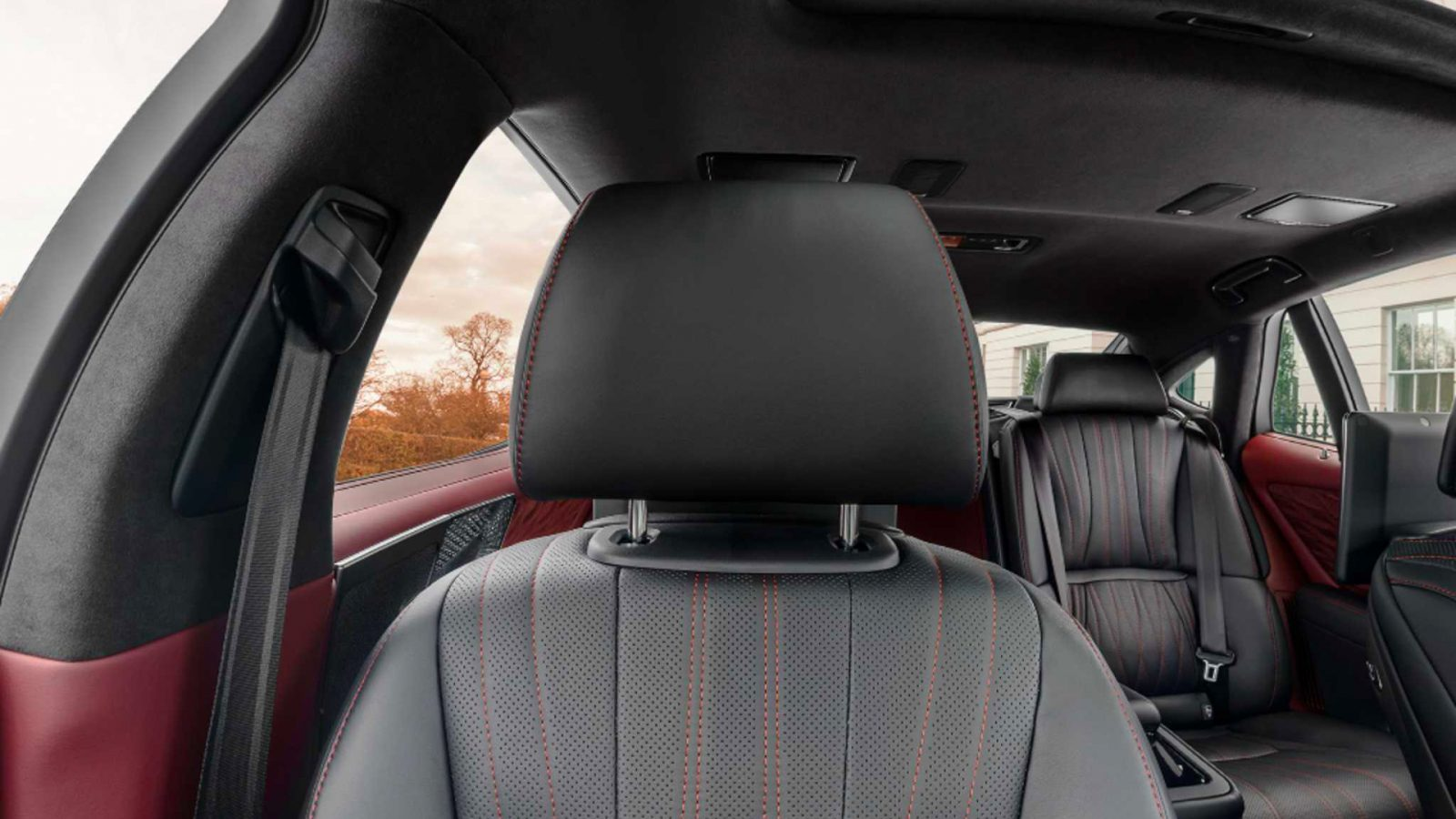 Virtual background of Lexus LS interior (front seat)