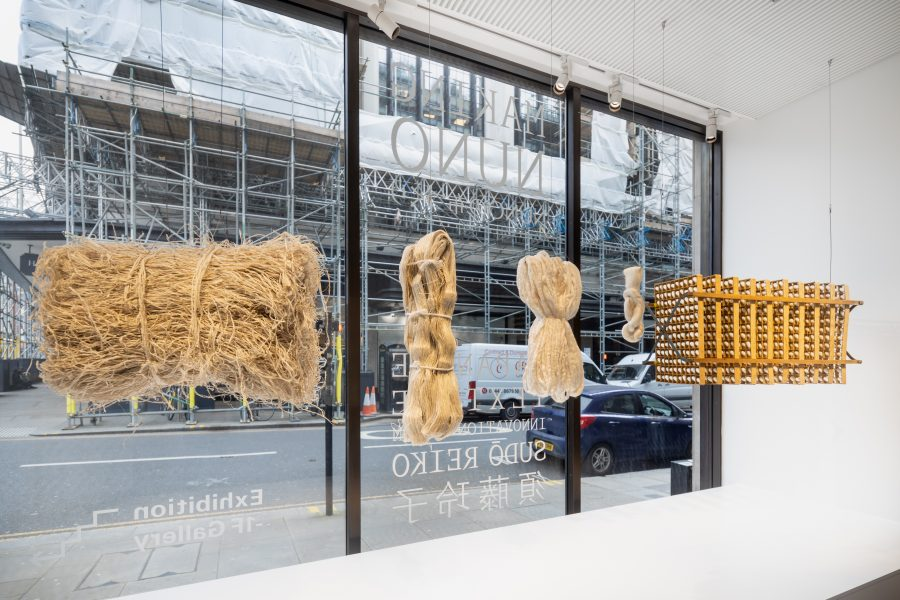 "London, UK, 8 April 2021 - ""MAKING NUNO"" exhibition at Japan House London."