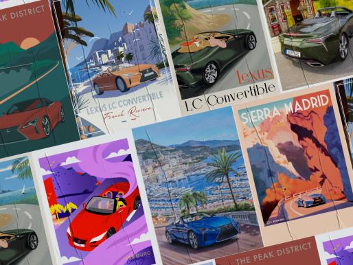 Lexus vintage travel posters